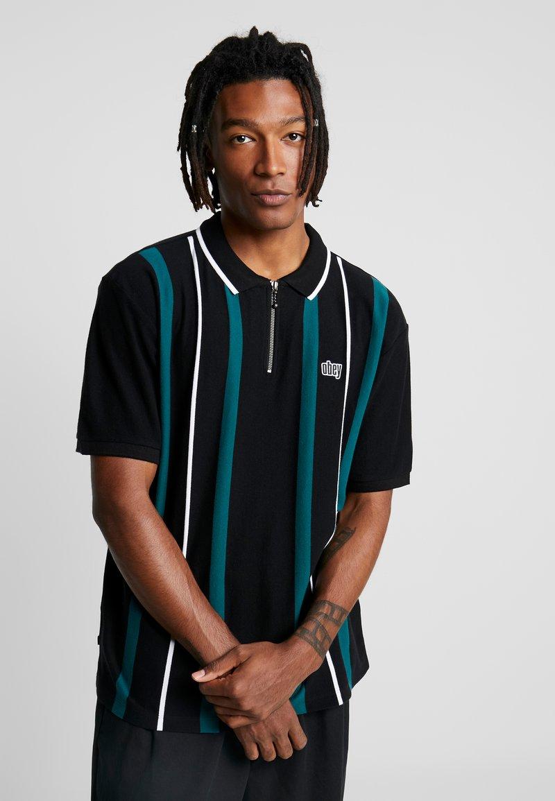 Obey Clothing - CHUNK CLASSIC - Polo shirt - black/multi