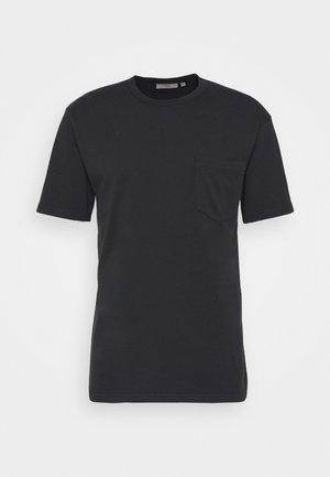 HARIS - Basic T-shirt - black