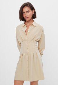 Bershka - Shirt dress - beige - 0