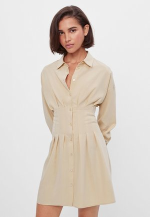 Robe chemise - beige