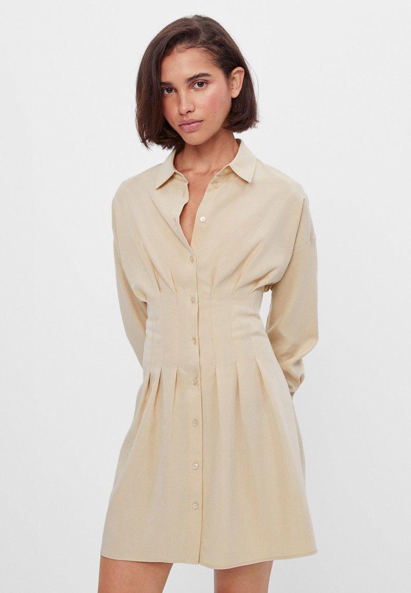 Bershka - Shirt dress - beige
