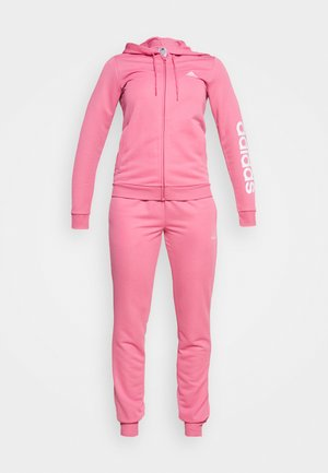 LINEAR ESSENTIALS AEROREADY TOP:SLIM-BOTTOM:SLIM - Trainingsanzug - rose tone/white