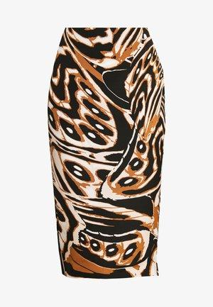 KARA - Pouzdrová sukně - abstract wing black