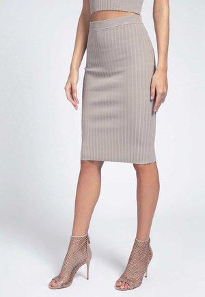 Pencil skirt - beige