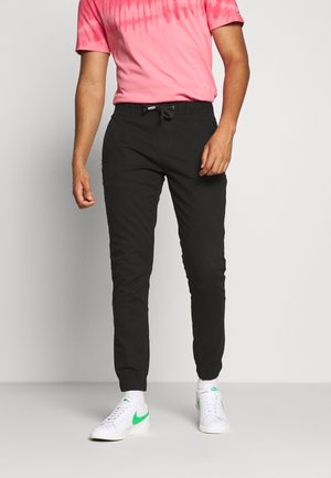 SCANTON JOGGER DOBBY PANT - Trainingsbroek - black