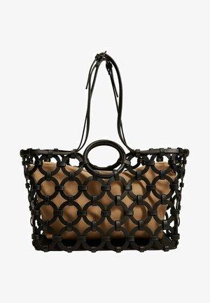 MIT GEOMETRISCHEM DESIGN - Shopping bag - schwarz