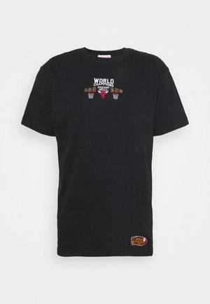 NBA CHICAGO BULLS DEADSTOCK CHAMPS TEE - Club wear - black