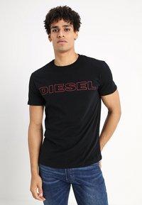 Diesel - UMLT-JAKE T-SHIRT - T-shirt print - black - 0
