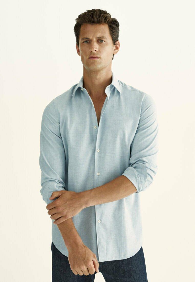 Massimo Dutti - SLIM FIT - Shirt - light blue