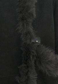 VSP - MELBORUNE NATUREL TABACCO - Kurtka skórzana - black antracite - 3