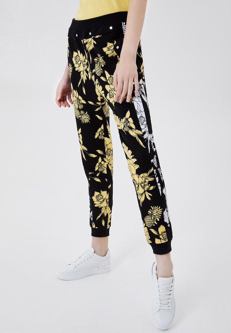 LIU JO - Trousers - black/yellow