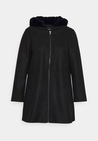 Vero Moda Curve - VMMOLLYHOODIE JACKET - Classic coat - black - 3