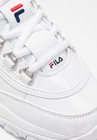 Fila - STRADA - Sneakersy niskie - white - 2
