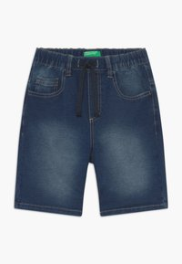 Benetton - BERMUDA - Denim shorts - blue denim - 2