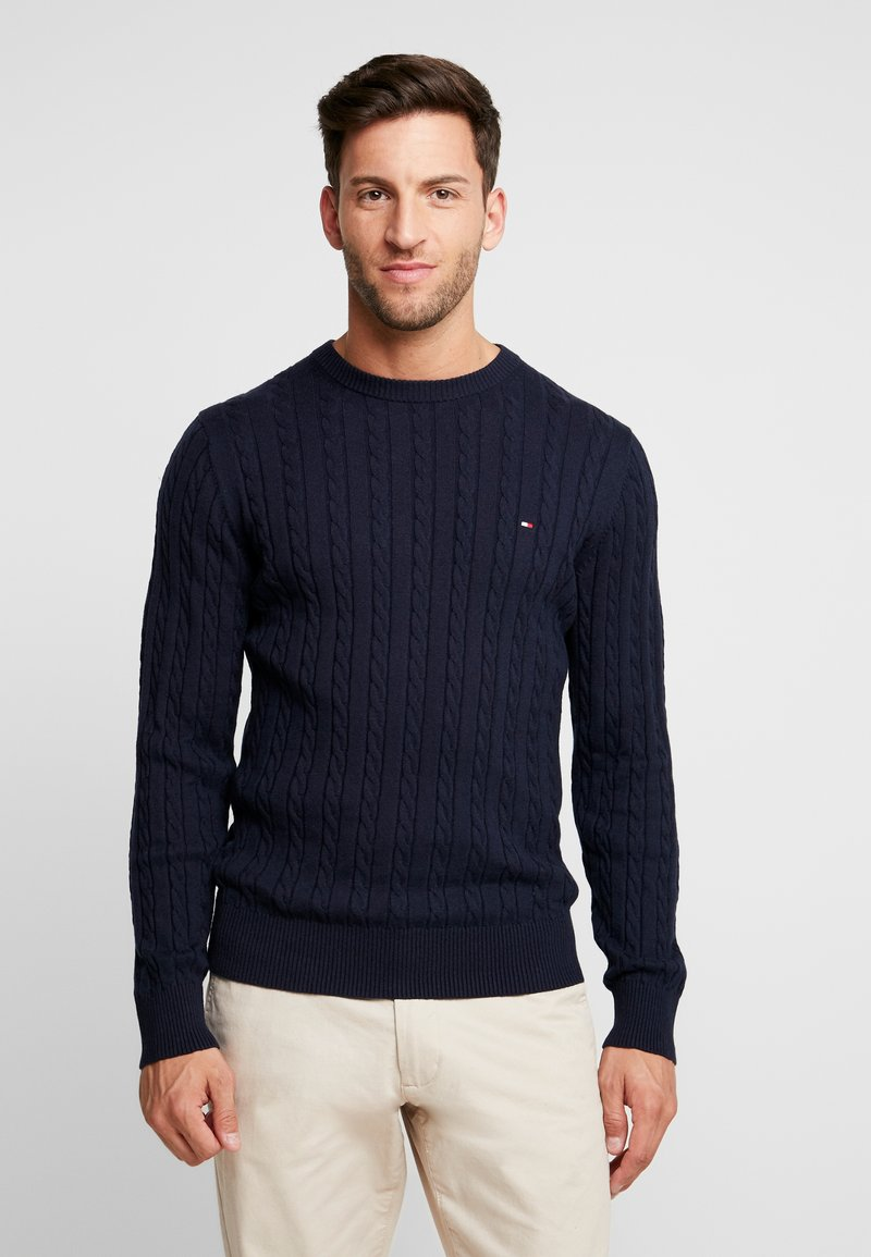 Tommy Hilfiger - CLASSIC CABLE CREW NECK - Neule - blue
