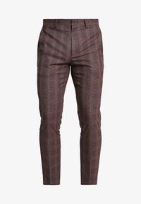 MAUVE POW CHECK - Suit trousers - burgundy