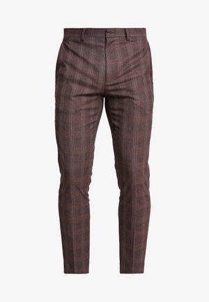 MAUVE POW CHECK - Pantalon - burgundy