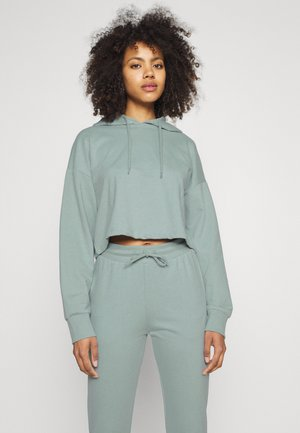 SET CROPPED HOODIE WITH JOGGER - Hoodie - green