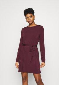 Vila - VIEBONI TIE DRESS - Jersey dress - winetasting - 0