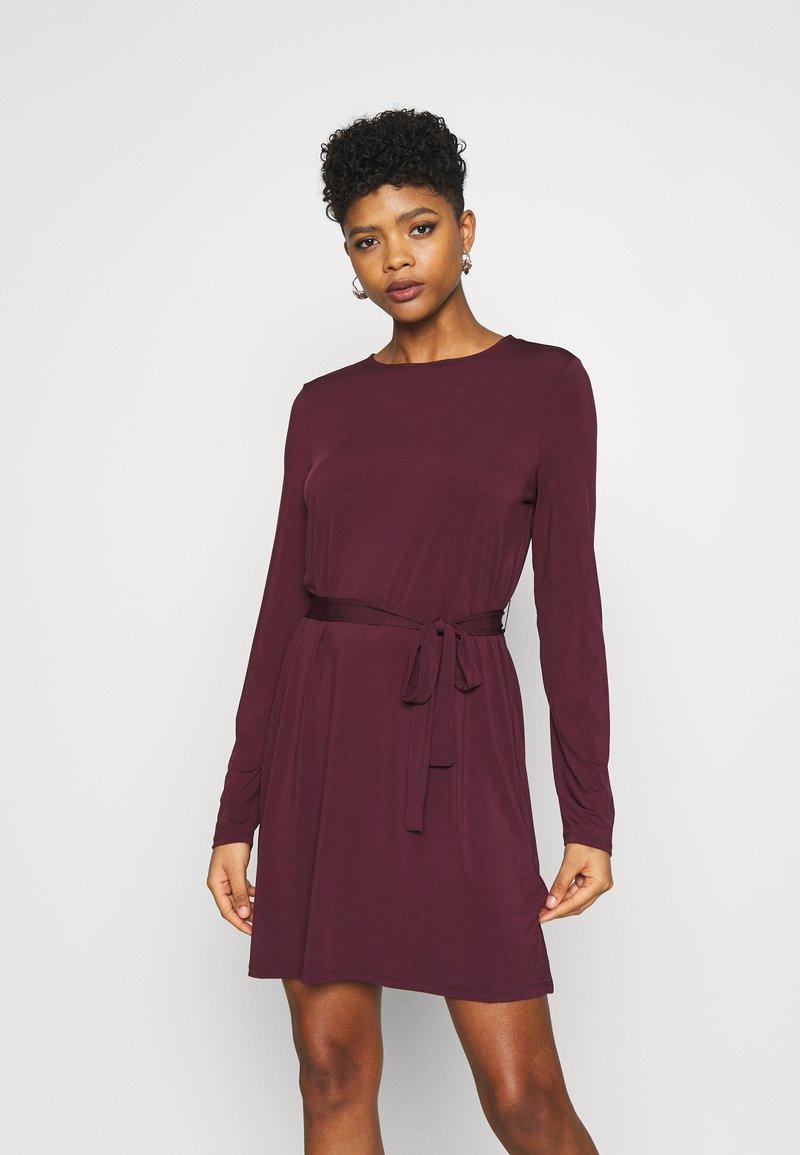 Vila - VIEBONI TIE DRESS - Jersey dress - winetasting