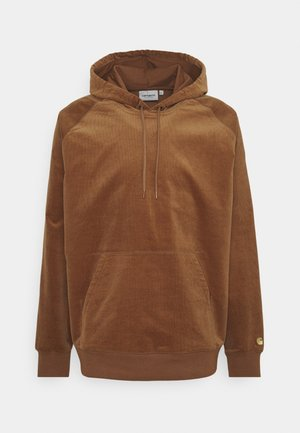 HOODED CORD - Huppari - rum/gold