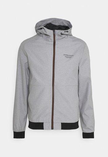 JJESEAM JACKET HOOD  - Summer jacket - light grey melange