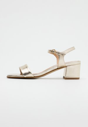 LEATHER SANDALS - Sandals - gold