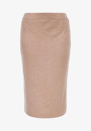 Pencil skirt - beige melange