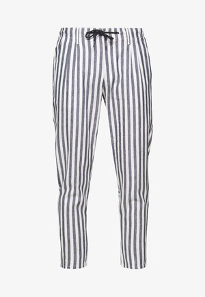 ONSLEO STRIPE - Trousers - cloud dancer