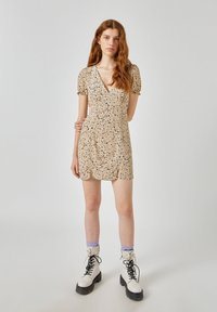 PULL&BEAR - Denní šaty - beige - 1