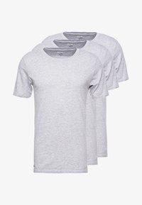 Lacoste - SLIM FIT TEE 3 PACK - Camiseta interior - grau meliert - 3