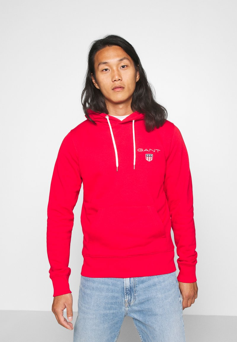GANT - MEDIUM SHIELD HOODIE - Huppari - bright red