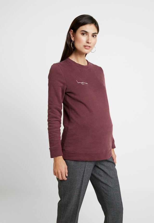 HAPPINESS - Sweatshirt - plum