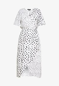 SPOT MANIPULATED WAIST MIDI - Day dress - white