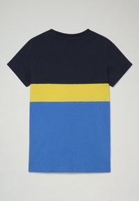 Napapijri - SALOY COLOUR BLOCK - Print T-shirt - blue dazzling - 1