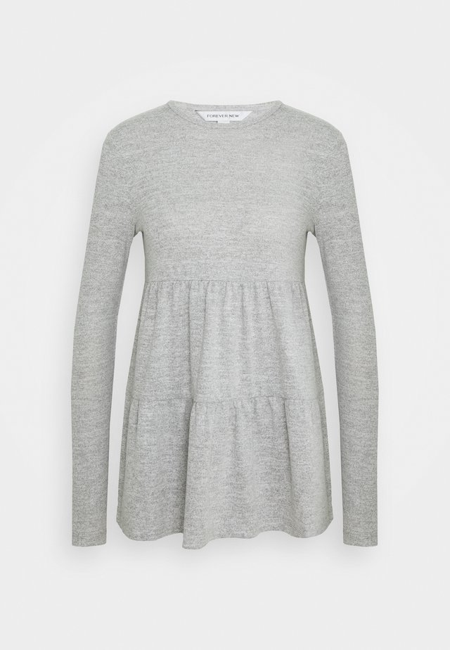 PIPER TIERED SMOCK JUMPER - Top s dlouhým rukávem - grey