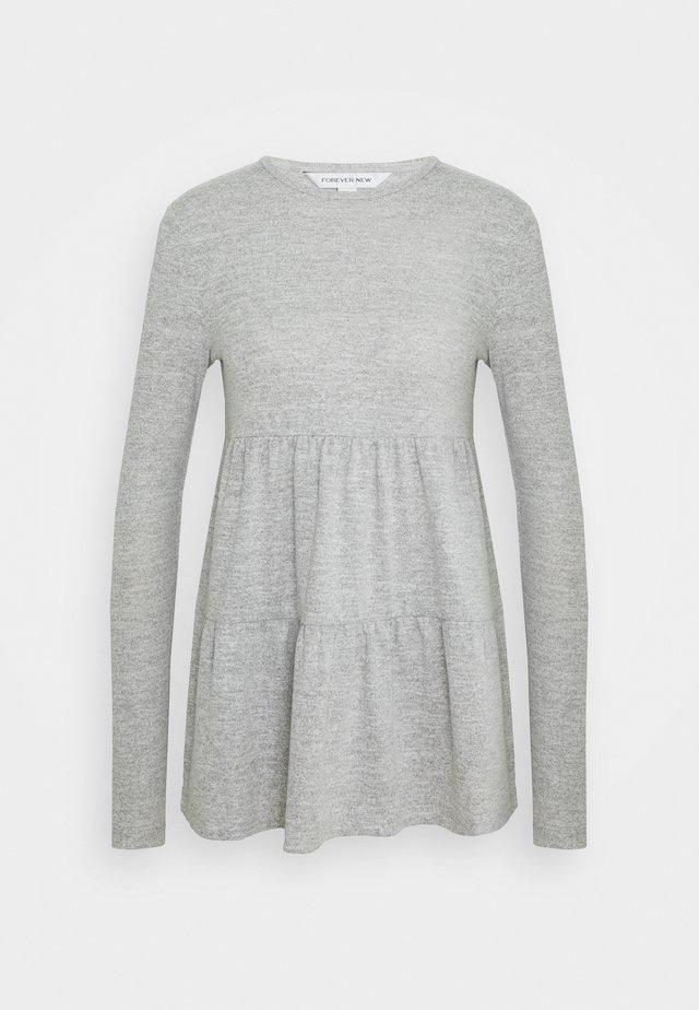 PIPER TIERED SMOCK JUMPER - Långärmad tröja - grey