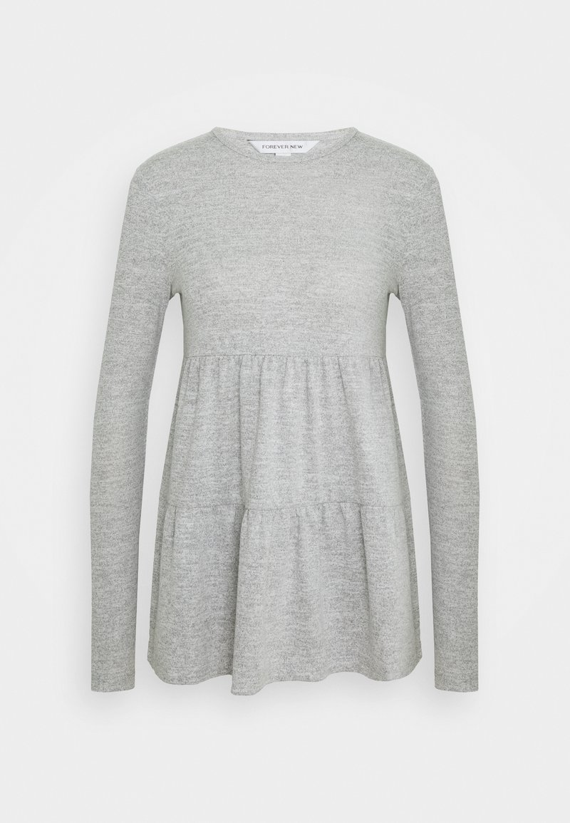 Forever New - PIPER TIERED SMOCK JUMPER - Long sleeved top - grey