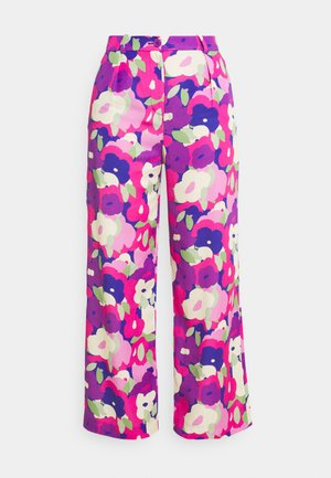 Trousers - lilac purple bright