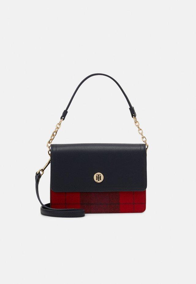 HONEY  SHOULDER BAG CHECK - Handbag - blue