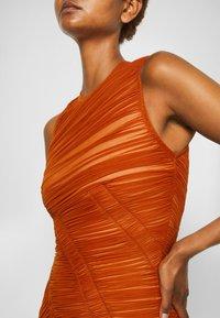 Hervé Léger - ASYMMETRIC DRAPED DRESS - Cocktail dress / Party dress - cognac - 6