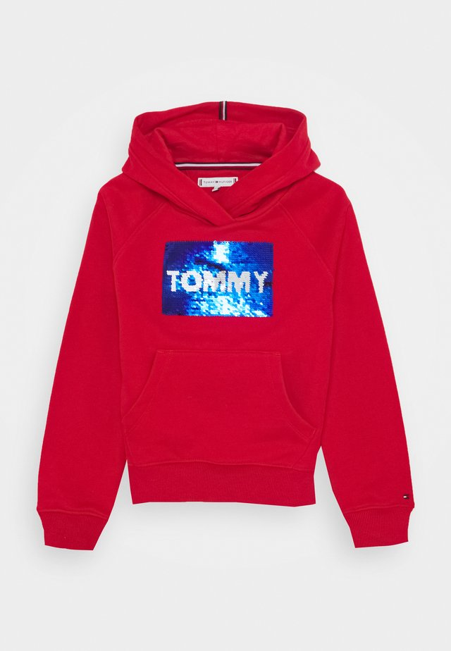 FLAG FLIP SEQUINS HOODIE - Sweat à capuche - red