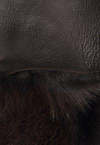STUDIO ID - FLO COAT - Leather jacket - chocolate - 6
