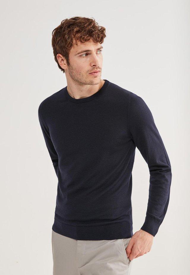 RUNDHALS-PULLOVER AUS CASHMERE ULTRALIGHT - Sweatshirt - blu navy