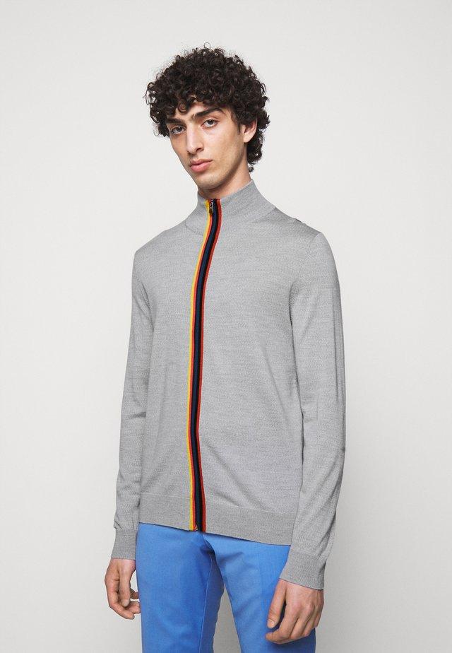 GENTS ZIP THRU - Cardigan - grey