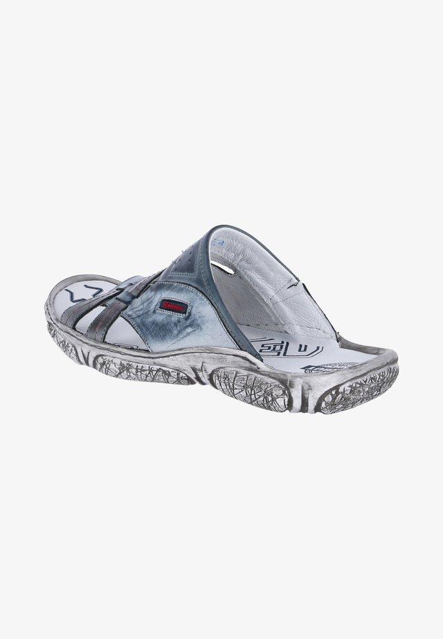 Mules - blau weiß grau