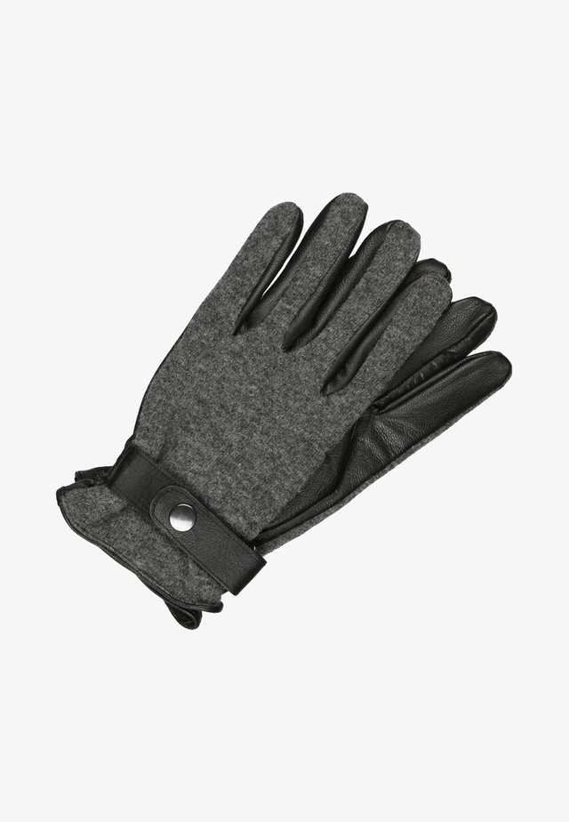 Guantes - black/grey melange