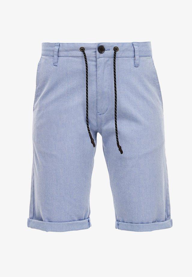 REGULAR FIT - Shorts - blue herringbone