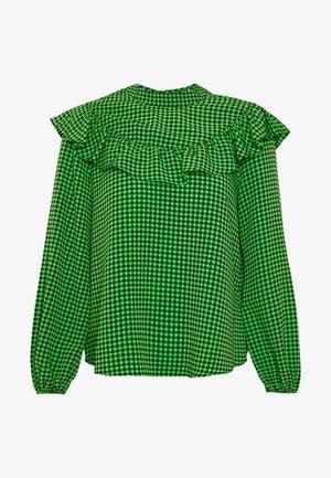 GINGHAM BLOUSE - Bluser - green