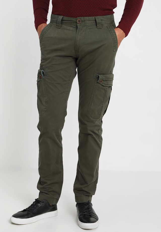 Cargo trousers - deep forest green
